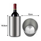 1.7L Stainless Steel Ice Bucket Double Walled Wine Chiller Cooler , and high quality wine cooler for wedding
