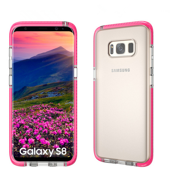 Crystal Clear Back Cover With Colorful Bumper Case Cover For Samsung Galaxy S8 S8 Plus