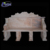 High quality outdoor lion sunset red marble bench NTMTA-013Y