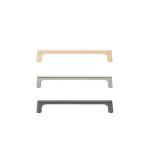 Wholesale Durable Furniture Hardware Gold Sliver Color Zinc Alloy Wardrobe Pulls Kitchen Cabinet Drawer Handle