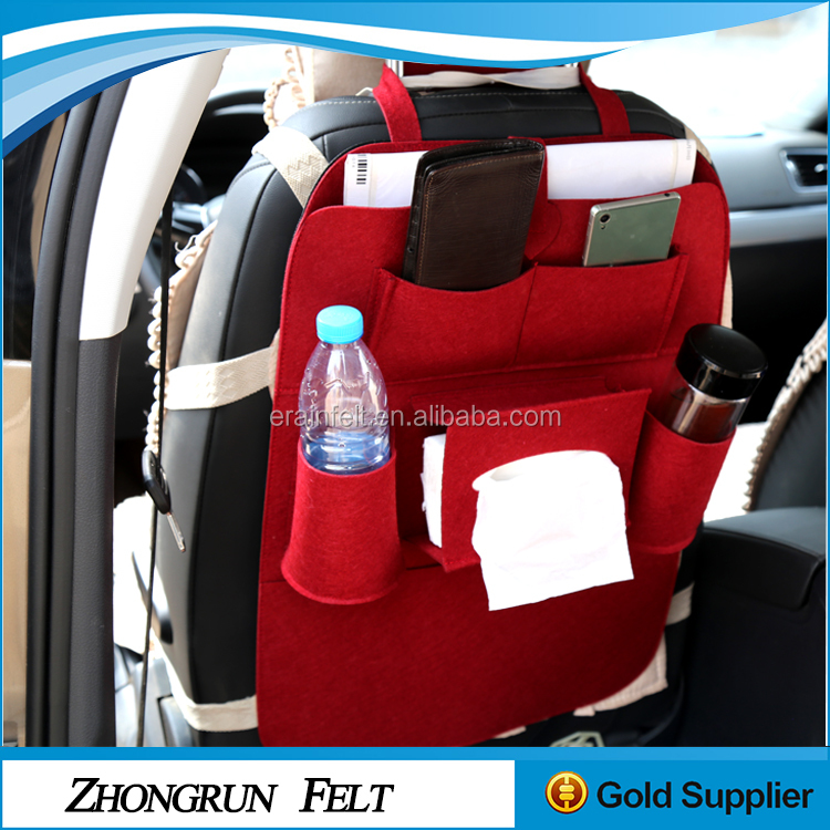 China Factory Fabric New Desigh Car Accessories Handmade Wool Felt Car back Seat Organizer