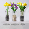 Handmade decal clear glass vase cheap wholesale decorative