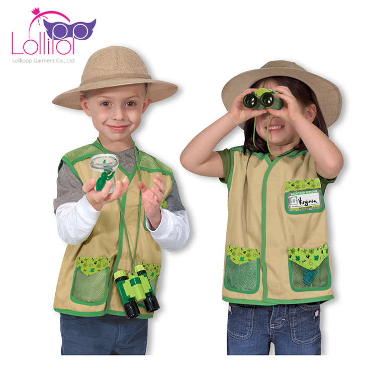 Directly factory sell custom kids construction worker custom cosplay costumes makers