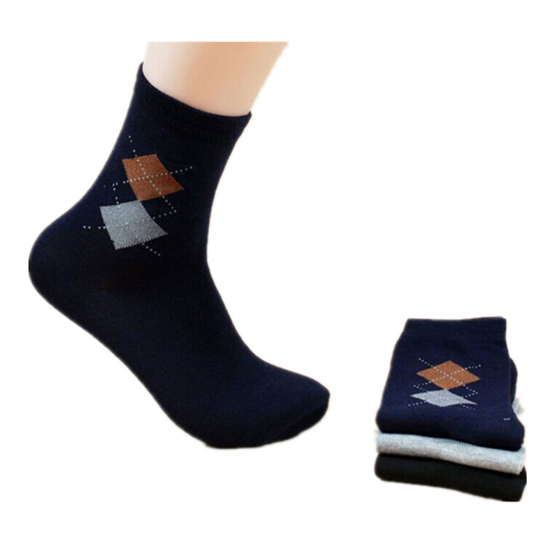 10 pcs/lot hot sale cotton and polyester mixed solid breathable cozy custom men tube socks