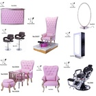 2018 Newest A set salon furniture princess pedicure chair wash unit salon furniture in pedicure chair