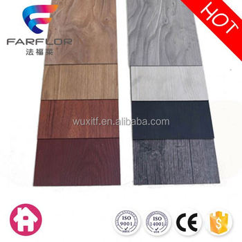 All kinds noiseless leather wood finish vinyl flooring plank