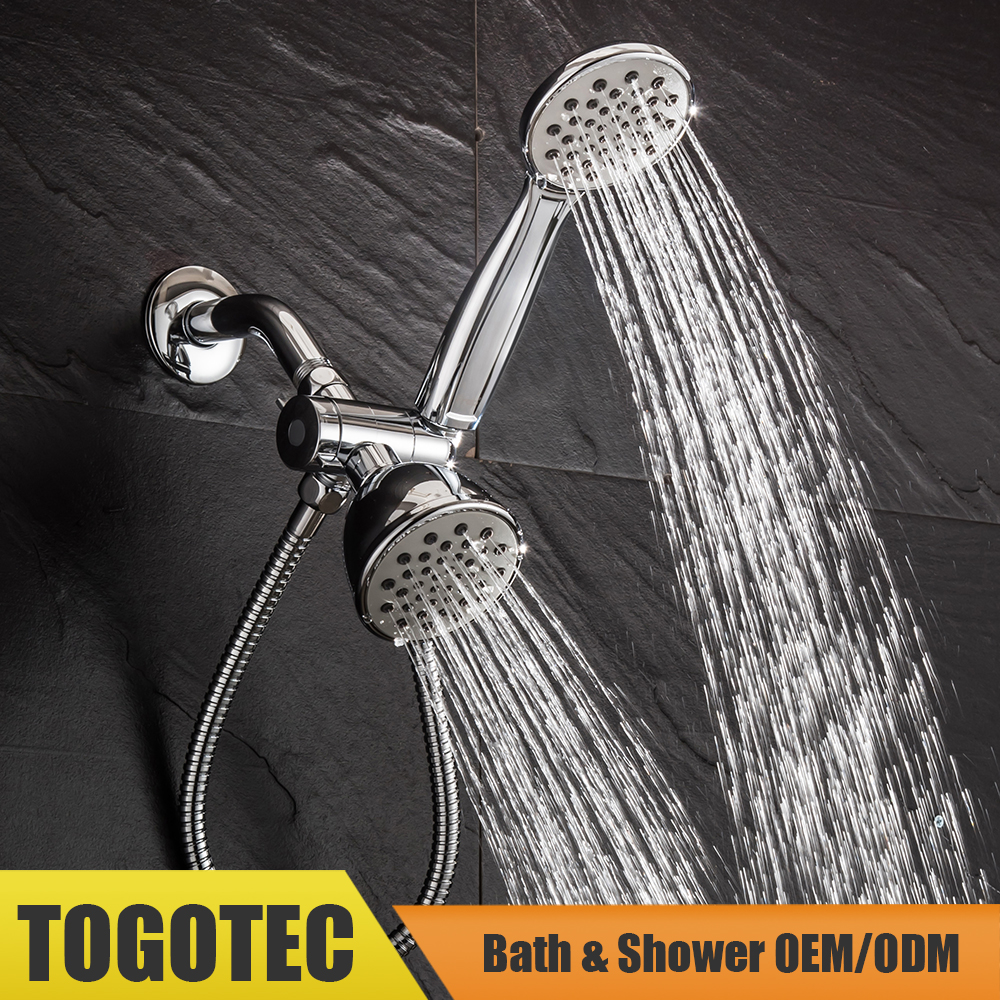 Tool-Free Shower Head, All-In-1 Shower Set, Handheld & Fixed Shower Head Combo