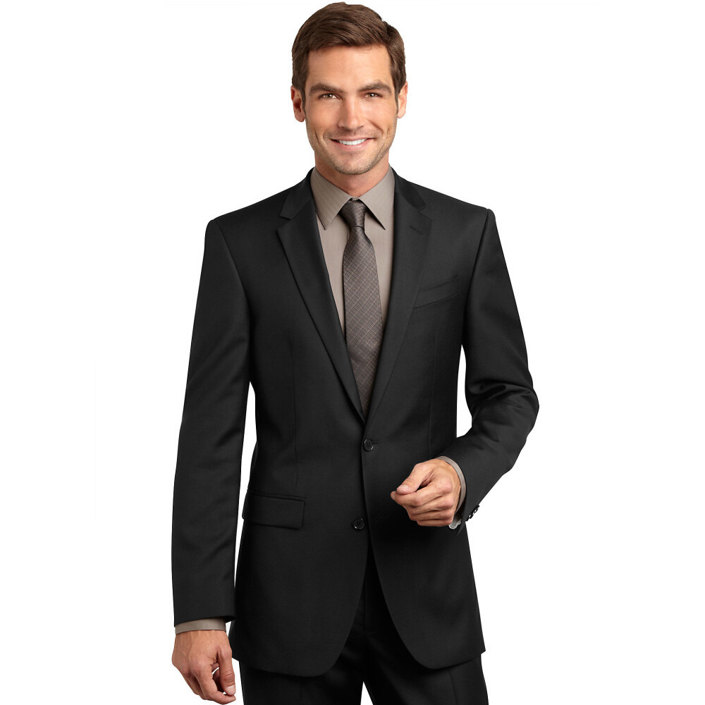 023f16c5c1 Get Quotations · Custom Made!Cool Style Notch Lapel Two Buttons Black Suits  for Groom Wedding Gent Suit