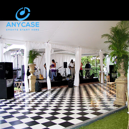 cheap portable wooden gloss dance floor for wedding/party