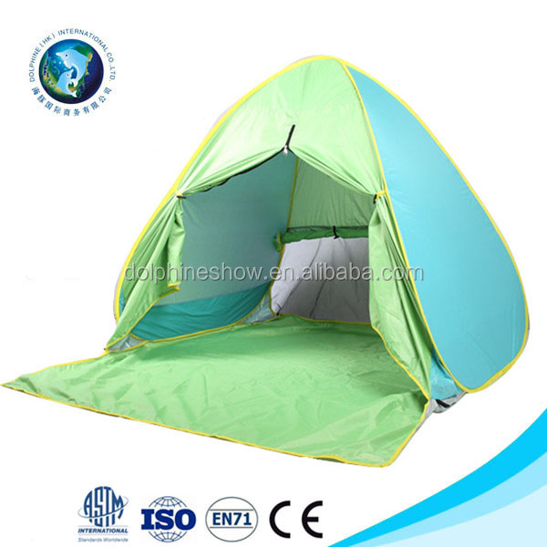 China Factory Customized Sunscreen Shade UV Protection Pop Up Outdoor Beach Tent Sun shelter