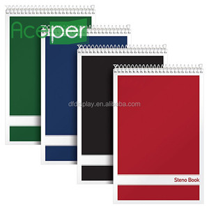 Wholesale custom steno pads 6 X 9 60 sheet with sprial bound