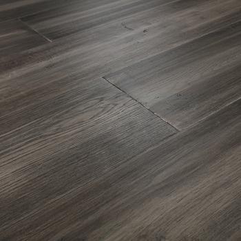 European Oak Glaze Finish Multi Layer Wire Brush Handsed Engineered Flooring
