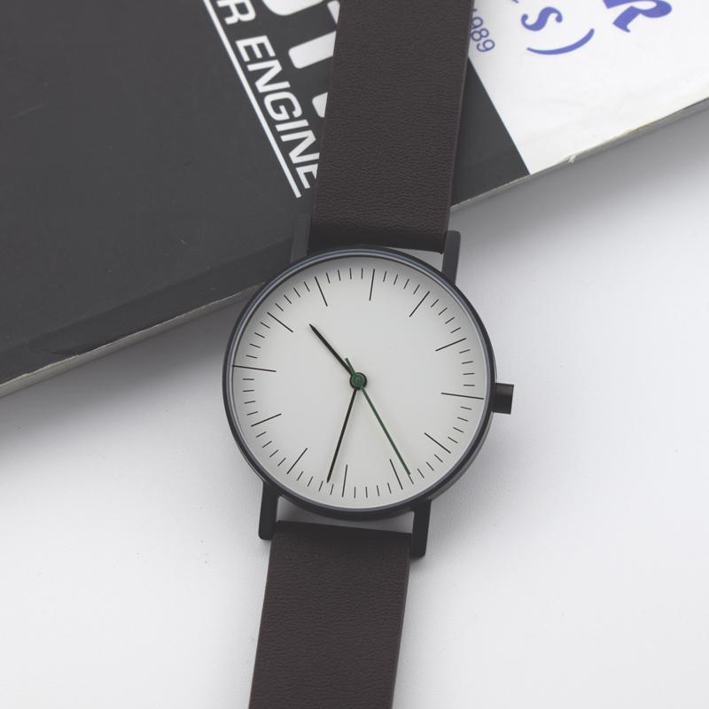 Marca de Luxo Mulheres Relógio Casual Couro