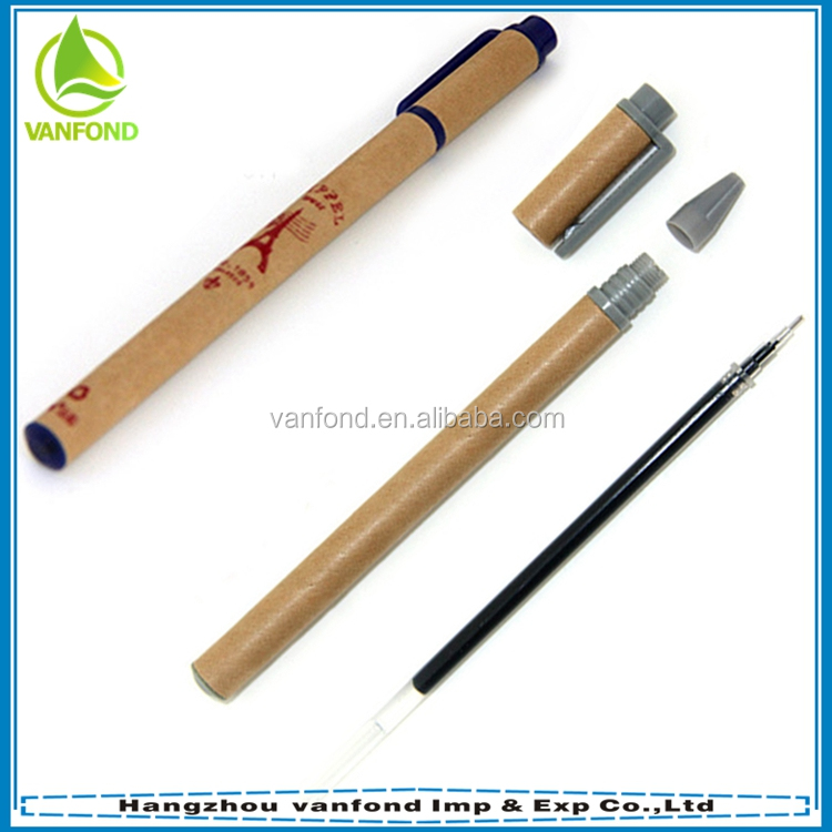 Cheap eco-friendly recycled roller paper pen for promotion