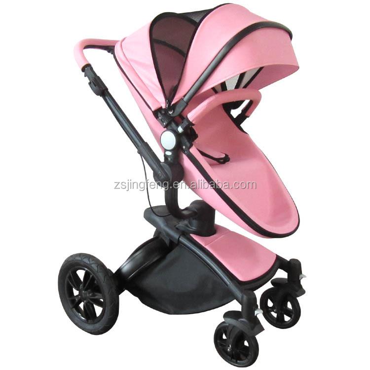 73efc9228dfd High End Baby Stroller EN 1888 Approved Leather Baby Stroller 3 in 1 Pink