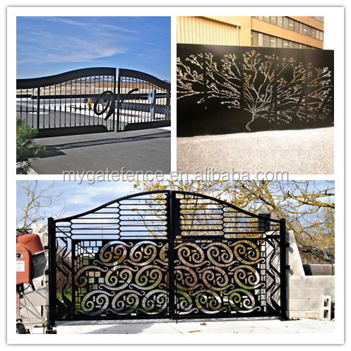 2016 hot sell new modern laser cut gate design philippines for Modern house gate designs philippines