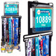 Factory Custom Medal Display Hanger Marathon Medal Holder With Bib Pouches