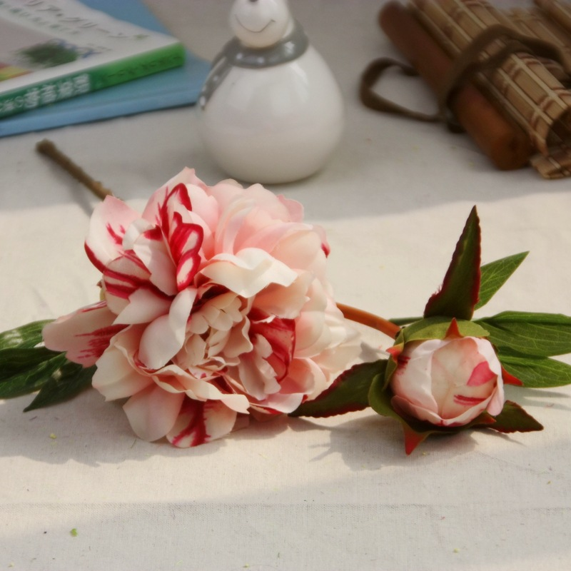 High quality wedding decorative silk peony artificial flower, wholesale artificial silk peony flower