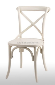 X Back Cross Dining Chair Noosa White French Bistro Style