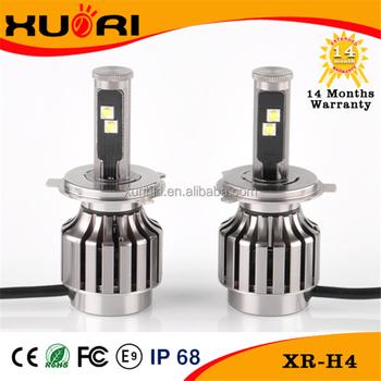 Hot 9-36v Fans Cooling 40w 3600lm Xhp70 Led Headlight Bulbs H4 ...