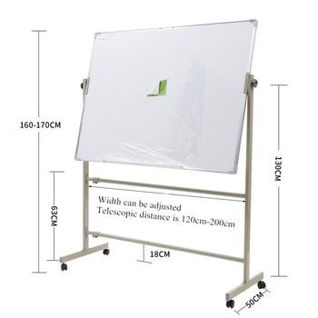 Custom office classroom dry erase white writing board stand on wheels