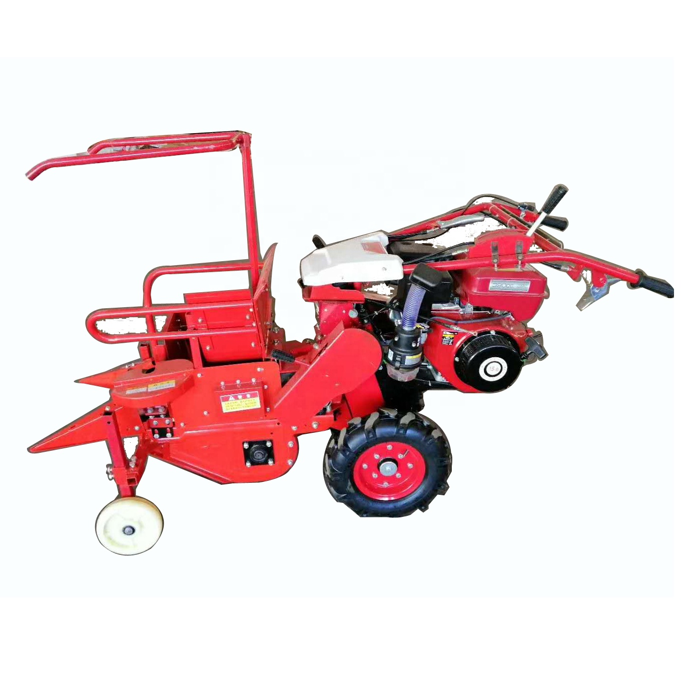 Hand push kind of gasoline diesel engine type corn maize harvester
