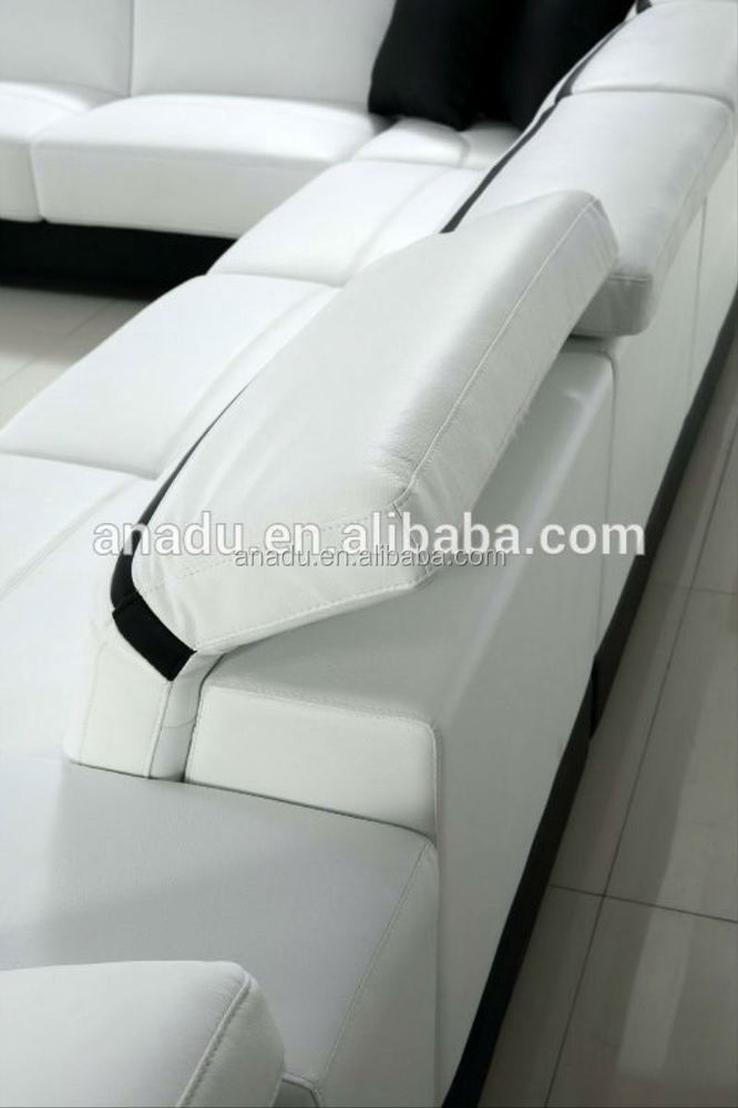 barato moderno seccional sofas de cuero sof diseos de sistema del sof