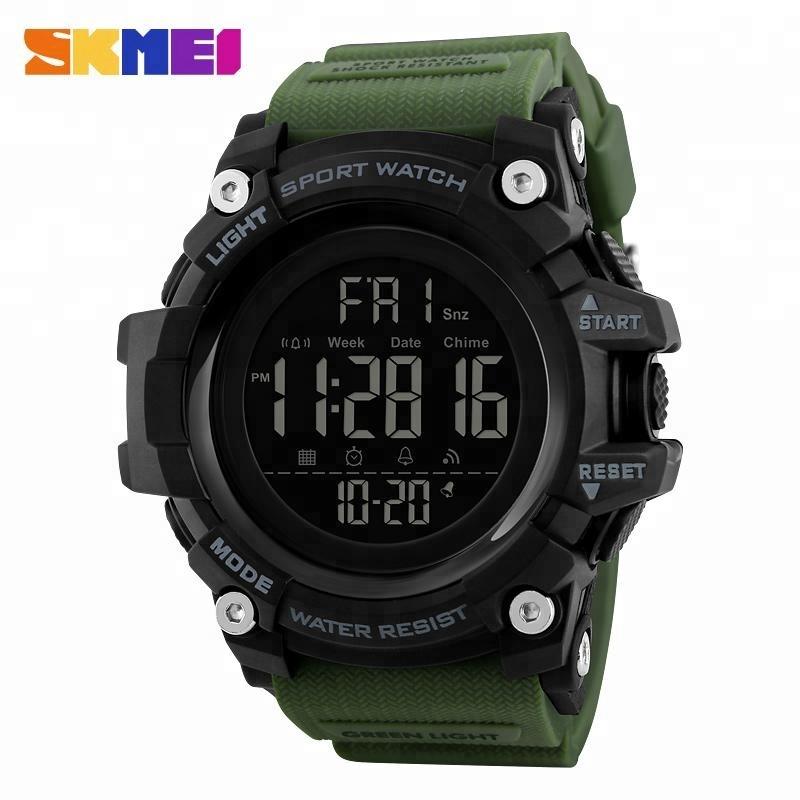 skmei 1384 fashion waterproof digital military watches oem manufacturer 5 atm waterproof sport watch for men, Black/blue/red/army green/khaki/camo