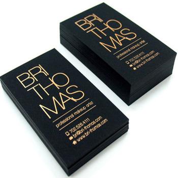 Black Paper Gold Foil Business Card