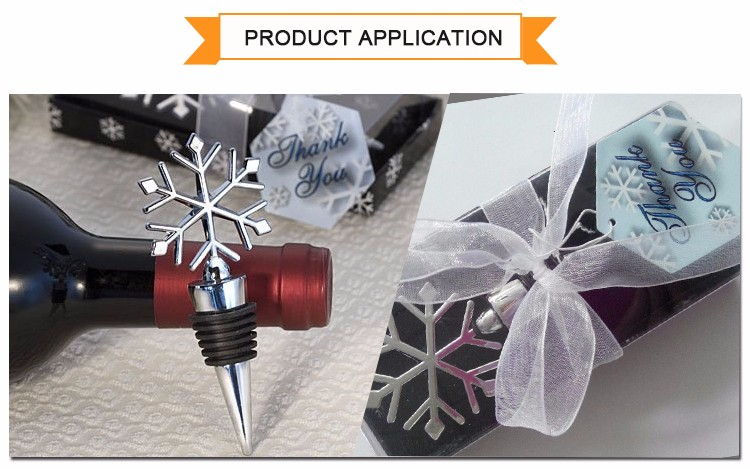 Christmas Snowflake Elegant New Cheap Metal Funny Wine Stoppers