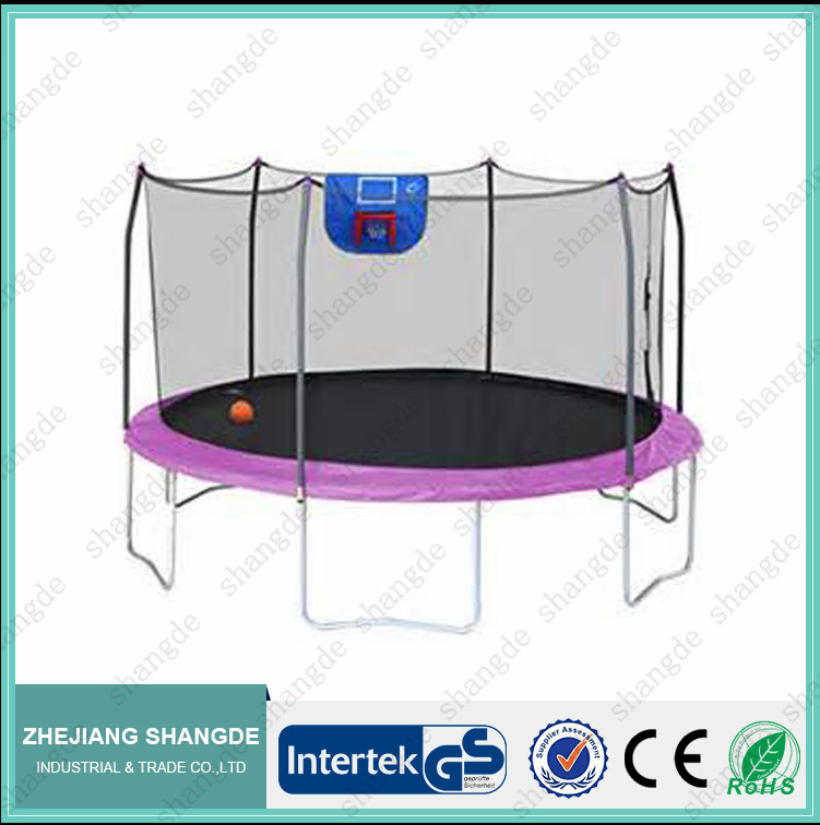 hot sale 10FT outdoor trampoline with basketball hoop