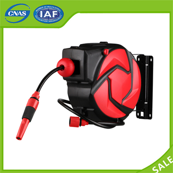 14m length air hose reel auto rollup automatic retractable hose reel reel with quick - Retractable Hose Reel