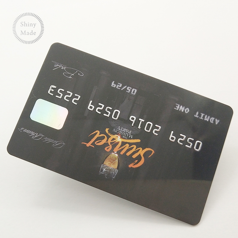 Custom 홀로그램 credit card size business card/홀로그램 overlay 대 한 pvc cards