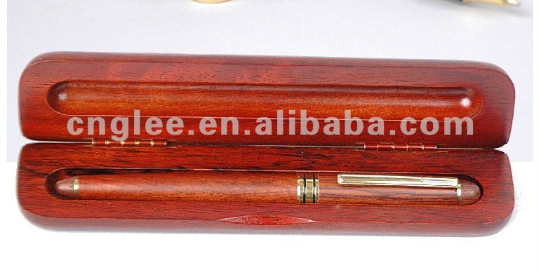 luxury red color wooden pen display box/case