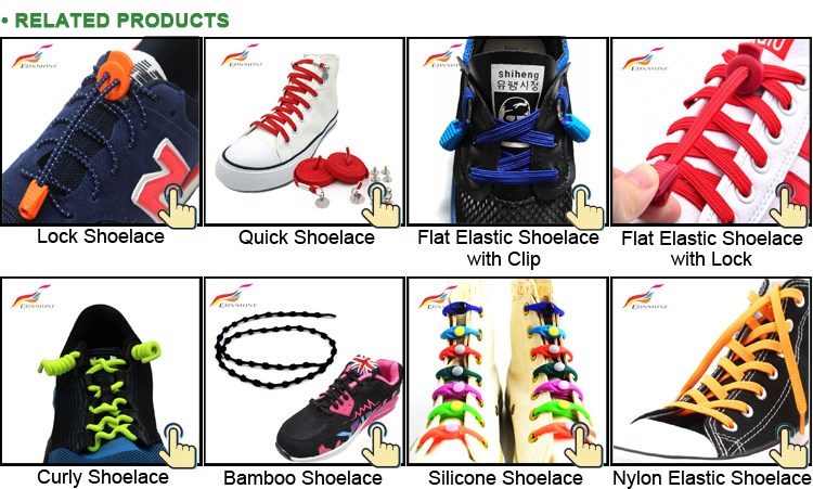 Custom Reflective Stretch Elastic shoelaces No Tie Shoelace for Running Shoes