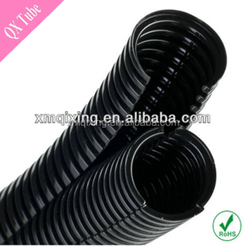 ROHS Black Split Wire Loom tubing, View Loom tubing, Qx Black ...