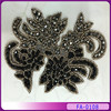 Flowers rhinestone hotfix embroidered appliques embroidery iron on patches FA-0108