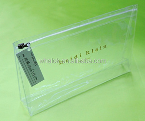 China Supplier Clear PVC Cosmetic Standup Ziplock Pouch