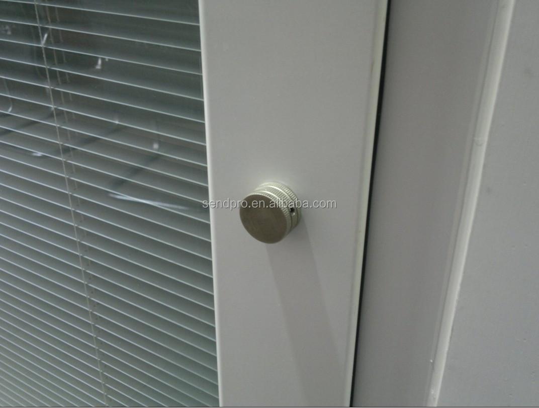 Personalizado marco de vidrio puerta de entrada de - Persianas venecianas de aluminio ...