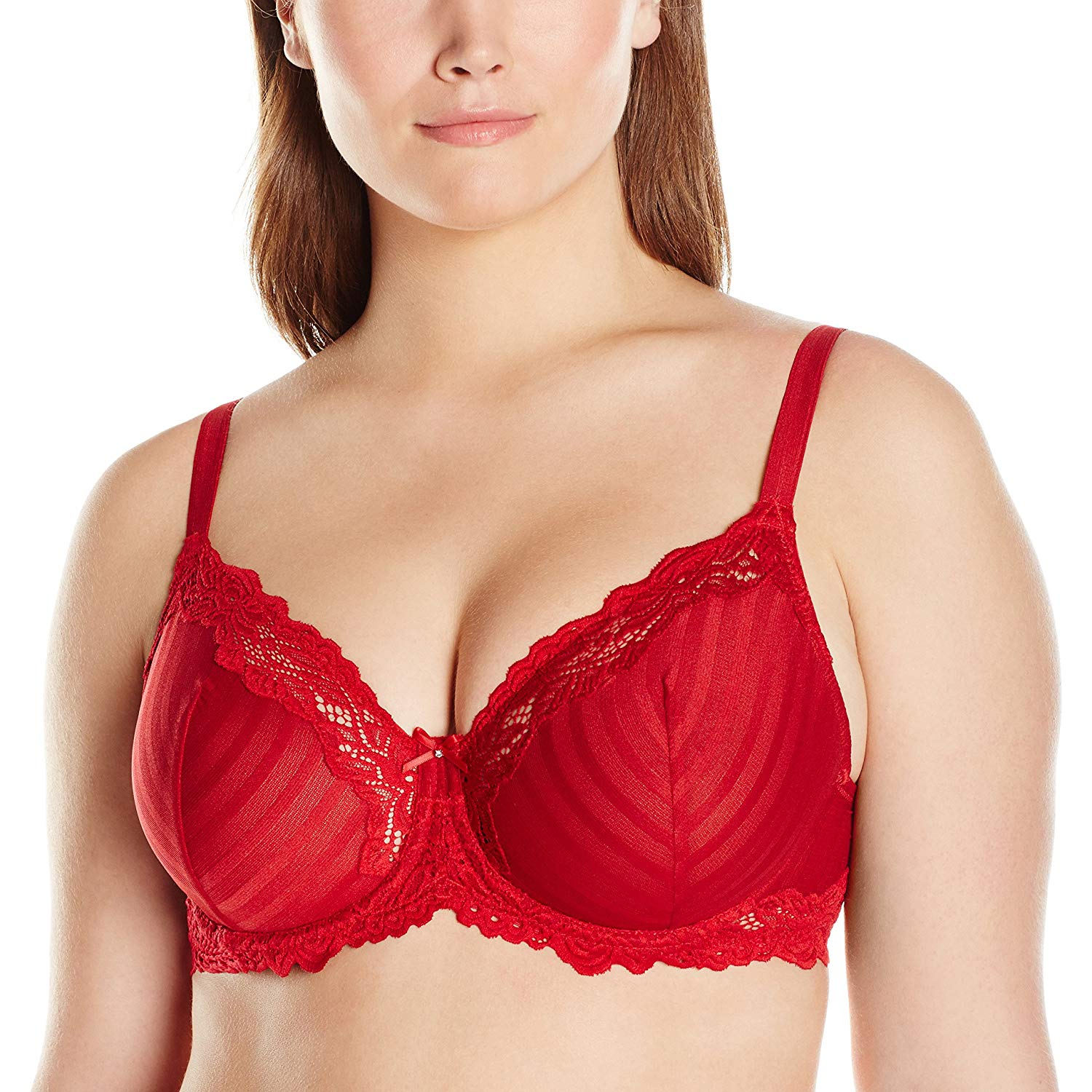 c8326de5614c0 Get Quotations · Lunaire Women s Plus Size Barbados Shadow Stripe Underwire  Bra