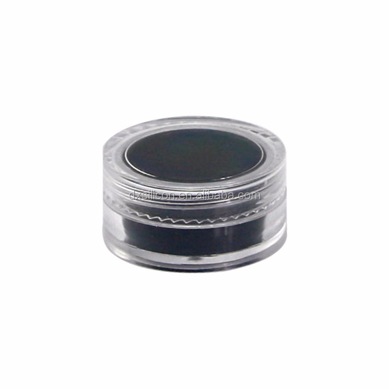 Clear plastic dab <strong>container</strong> silicone oil <strong>container</strong> inserted cosmetic acrylic jar concentrate jars for dry herb vape pens