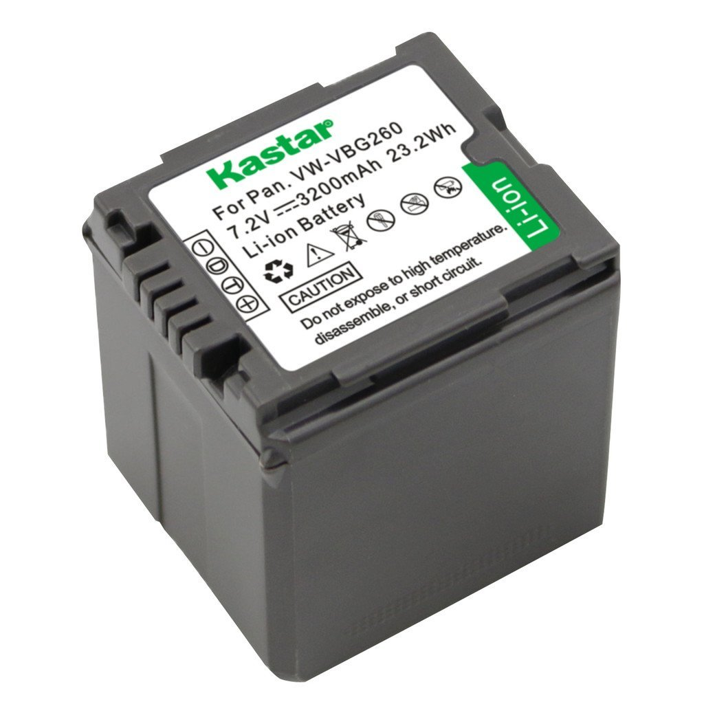 Kastar Battery for Panasonic VW-VBG070, VW-VBG130, VWVBG260 Battery and Panasonic SDR-H40, SDR-H80 Series, HDC-HS700, TM700, HS300, TM300, HS250, SD20, HS20, HDC-SDT750 Camcorders etc.