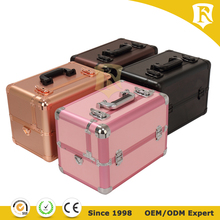 New aluminum makeup case carry cosmetic case with extendable trays