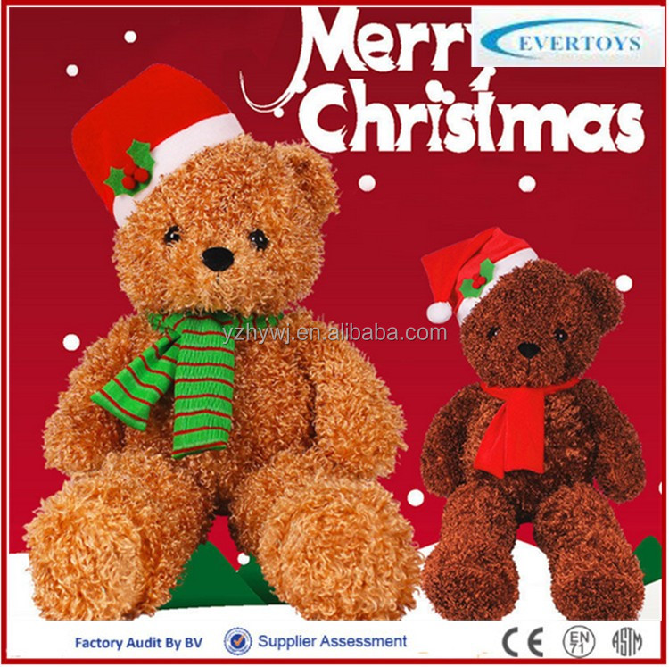2016 wholesale christmas ornament plush teddy bear
