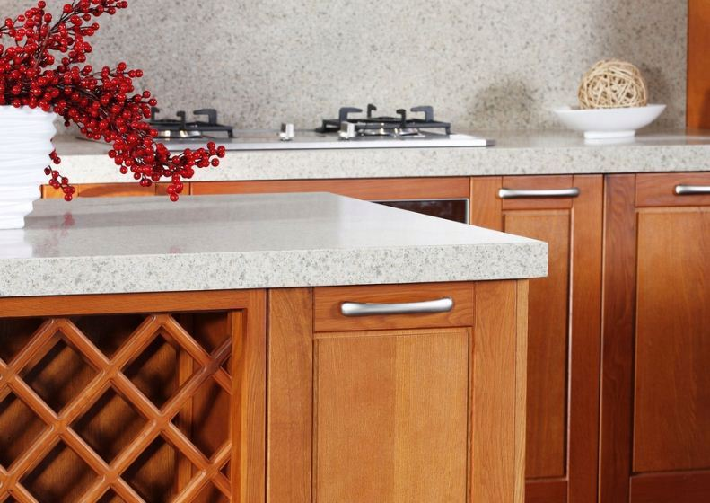 Red Beech Solid Wood Kitchen Cabinet Units, Prefab Kitchen,prefab kitchen cheap kitchen cabinets