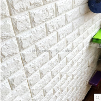 Pe foam 3d wall brick 3d brick wall panel wall wallpaper for Room decor 3d foam stickers