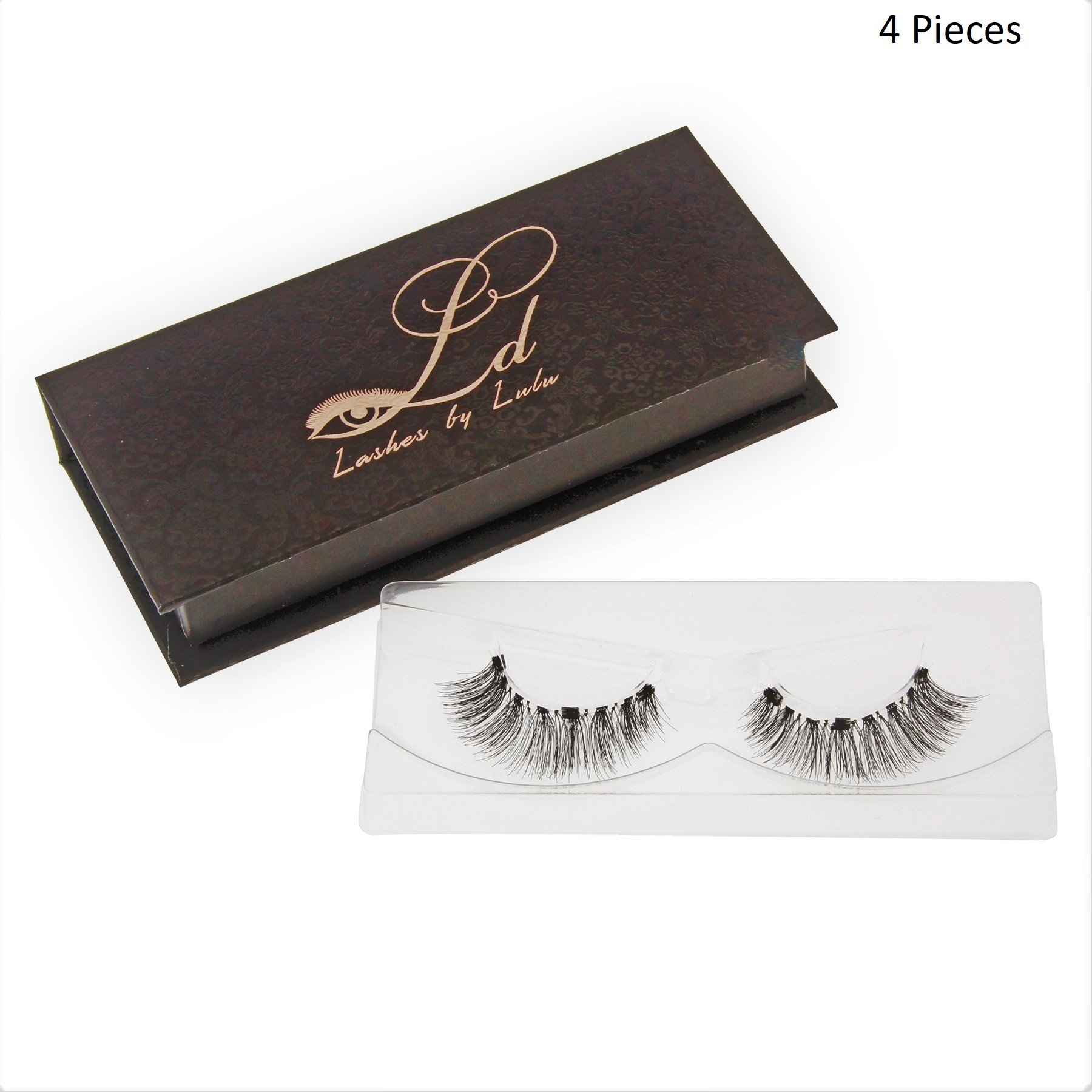 69a217fb9a8 Get Quotations · LD Triple 3D Dramatic Magnetic Eyelashes by Lulu   Magnet  Ultra-thin 0.2mm