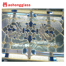 China Supplier Triple Stained Glass Door Design