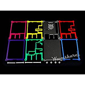 Waveshare Raspberry Pi 2/3 Model B Rainbow Case/Cover Type B 7 colors non-transparent Allows working with LCD and Expansion Board Easy Used