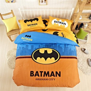 (Top Quality )Super Hero Bedding Set Of 4pcs Batman Bedding Set For Boy 100